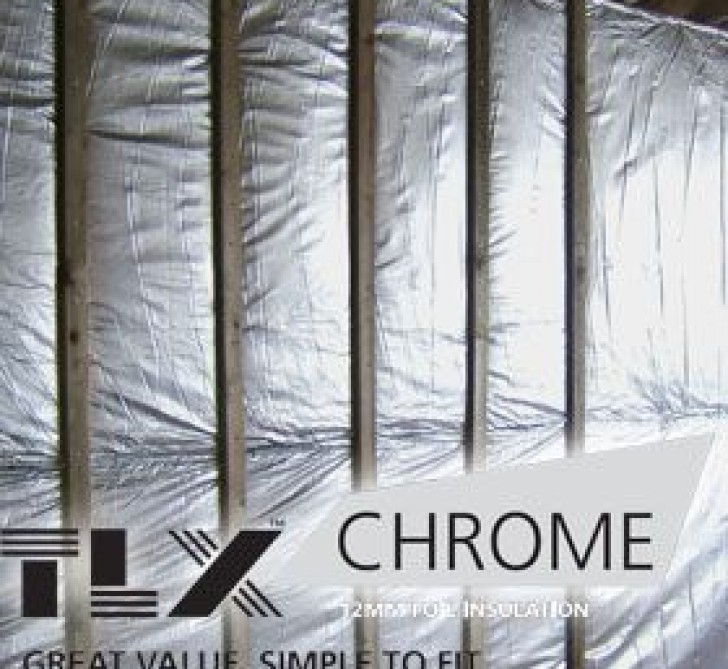 TLX Chrome Multifoil Roofing Insulation - Thinsulex (1.2 x 12.5m Roll)