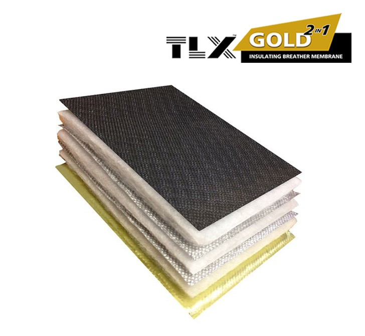 TLX Gold Multifoil Roofing Insulation - Thinsulex (1.2m x 10m Roll)
